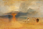 Joseph Mallord William Turner. Coast Calais at low tide. Traders, collecting bait for fishing