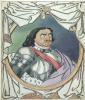 Шаржированный портрет императора Петра I.   Ватман,  перо