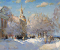 Rybinsk. Embankment in winter. Oil on canvas 50 x 60 cm 2014
