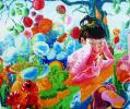 Flower girl. Canvas, oil, 100х120, 2005