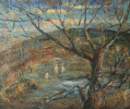 Landscape with a tree near the water