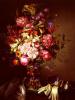 Натюрморт с вазой цветов и театральным биноклем