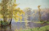 Осенний день в саду Лефортовского дворца в Москве