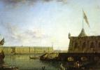 Вид Петропавловской крепости и дворцовой набережной