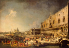 Giovanni Antonio Canal (Canaletto). Reception of the French Ambassador in the Palace of the Doges in Venice