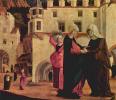 Алтарь Девы Марии, сцена: Встреча Марии и Елизаветы