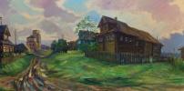 Средь домов заброшенных... с.Никольское Большедворье. К., м., 62х123, 2015