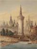 Вид Кремля из-за Москвы-реки у Москворецкой башни