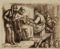 Джотто рисует портрет Данте. Эскиз