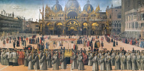 Procession of the relics of the Holy Cross in Piazza San Marco