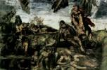 Микеланджело Буонарроти. Страшный суд, деталь: Воскресение Христово