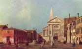 Джованни Антонио Каналь (Каналетто). Площадь и церковь Сан Франческо делла Винья