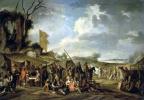 Корнелис де Валь. Военный лагерь у развалин