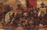 Vasily Ivanovich Surikov. Christ the expulsion of the merchants from the temple. Sketch
