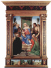 The Altar Pugliese. Madonna enthroned, the Apostle Peter, John the Baptist, St. Nicholas of Bari and St. Dominic, General view with predelay