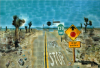 David Hockney. Pearblossom highway, 11-18 April 1986