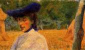 Умберто Боччони. Дама в синей шляпе
