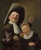 Мальчик и девочка с кошкой и угрем
