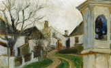 Эгон Шиле. Монастырь, дома и обнаженные деревья