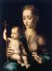 Мадонна с младенцем и прялкой в виде креста