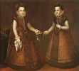 The Infanta Isabella Clara Eugenia and Catalina Micaela