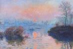 Клод Моне. Закат над Сеной в Лавакуре. Зимний эффект