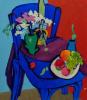 Натюрморт на синем стуле