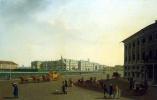 Бенжамен Патерсен. Вид Дворцовой площади и Зимнего дворца