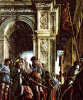 The procession of St. James to the penalty. The fresco of the chapel of Ovetari in the Church of the Eremitani in Padua