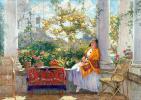 Константин Иванович Горбатов. Отдых на веранде. Портрет жены художника