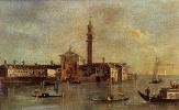 Франческо Гварди. Вид на остров Сан-Джорджо в Алга Венеции