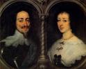 Двойной портрет короля Англии Карла I и королевы Генриетты Марии Французской