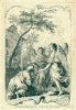 """A visit to Abraham by the Trinity. From the series """"Old Testament scenes"""""""