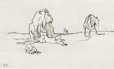 Valentin Aleksandrovich Serov. The lion and the wolf
