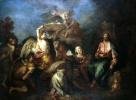 Христос в пустыне, окруженный ангелами