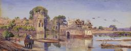 Padmini Water Palace in Chittaugarh, Rajasthan, India