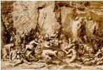 Никола Пуссен. Моисей иссекает воду из скалы