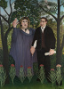 The Poet and His Muse (The Muse Inspiring the Poet). Portraits of poet Guillaume Apollinaire and painter Marie Laurencin