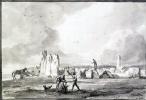Жан-Пьер-Лоран Уэль. Руины древнего сооружения из гигантских камней