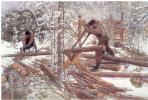 Карл Ларссон. Лесорубы в лесу