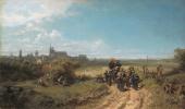 Karl Spitzweg. The walk of a schoolgirl