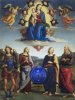 Magic ball (Madonna with a baby and four saints)