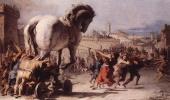Джованни Доменико Тьеполо. Шествие троянского коня