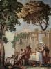Фрески из виллы Вальмарана в Виченце. Крестьянское семейство за трапезой