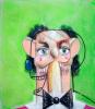 Жан Луи на зеленом фоне