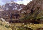 Альберт Бирштадт. Горное озеро, Колорадо. Эскиз