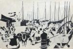 Утро в севастопольском порту. 1920-е  перо
