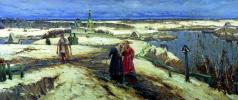 Constantine Veselov. Return from Church