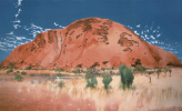 The Cathedral, the North East face/Uluru (Ayers rock)