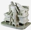 Уснувший ангел. Надгробный памятник О.И. Терещенко. Мраморный вариант с гипсовой модели 1888 г., находящейся в Научно-исследовательском музее Российской академии художеств